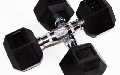 Troy Fitness Rubber Hex Dumbbells